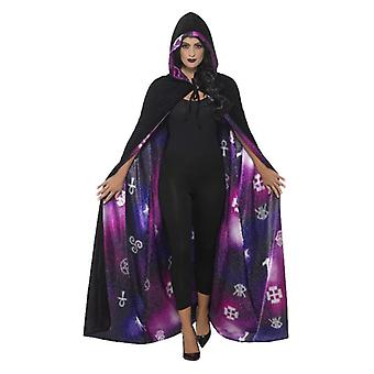 Womens Deluxe Reversible Galaxy Ouija Cape Fancy Kleid Zubehör