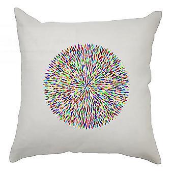 Colourful Cushion Cover 40cm x 40cm - Colourful Circle 3