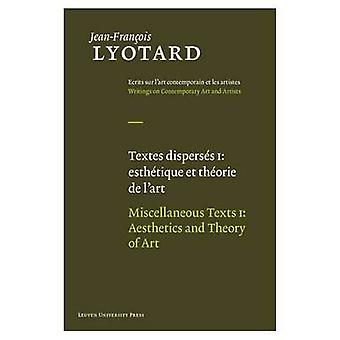 Miscellaneous Texts by Jean-Francois Lyotard - Herman Parret - Jean-M