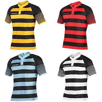 KooGa Mens Touchline Hooped Match Rugby Shirt