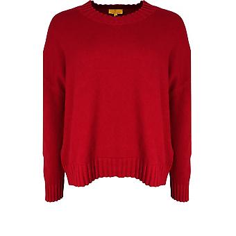 Yellow Label Red Oversized Knit Jumper