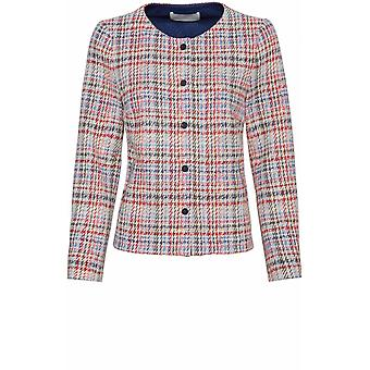 Bianca Red Woven Check Jacket