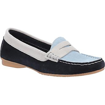 Riva Womens Banyoles Moccasin with Tassel Navy Blue White