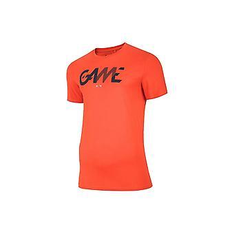 4F TSM028 H4L20TSM028POMARACZ universal summer men t-shirt