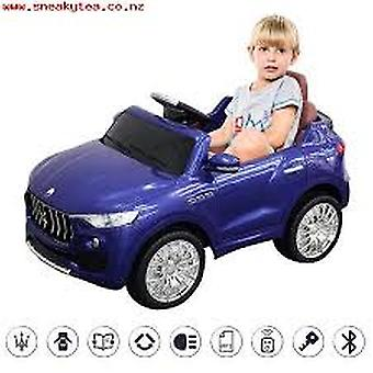 Costway 6V Licensed Maserati Kids Ride On Car RC Remote Control Opening Doors MP3 Swing Blue