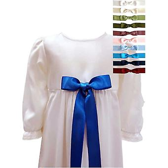 Unisex Baptism Gown With 10 Choices Of Bow, Grace Of Sweden, Pr.la