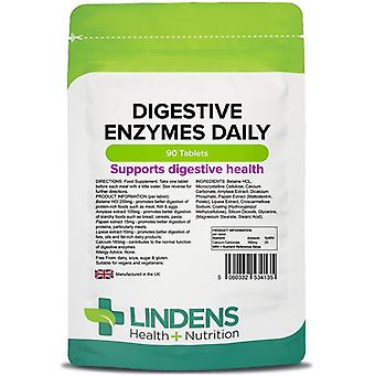 Lindens Digestive Enzymes Daily Tablets 90 (4135)