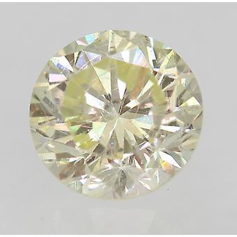 Certified 0.31 Carat J VVS2 Round Brilliant Enhanced Natural Diamond 4.14mm 2VG