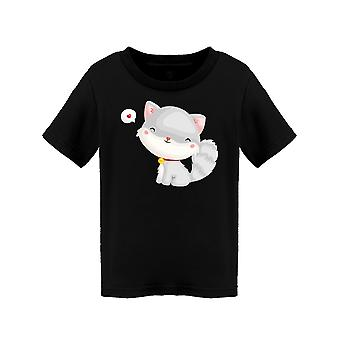 Cute Gray Kitty Tee Toddler's -Image by Shutterstock