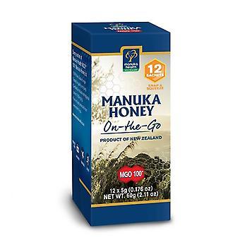 Manuka Health MGO 100+ Pure Manuka Honey Snap Pack 5g - Pack of 12 (MAN025)