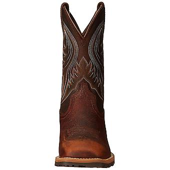 Ariat Mens Hybrid rancher Leather Square Toe Mid-Calf Western Boots