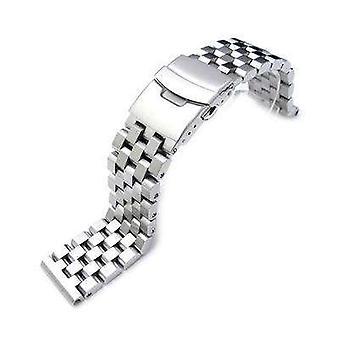 Bracelet de montre strapcode 21.5mm super ingénieur ii bande de montre en acier inoxydable massif pour le thon seiko brossé