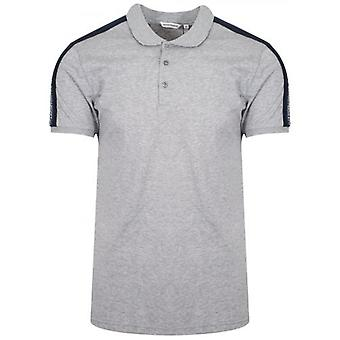 Antony Morato Grey Shoulder Taped Polo Shirt