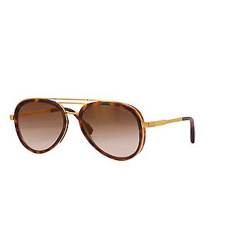 Cutler and Gross 1323 01 Gold-Dark Turtle/Brown Sunglasses