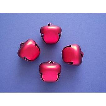 4 Red 35mm Jingle Bells for Crafts