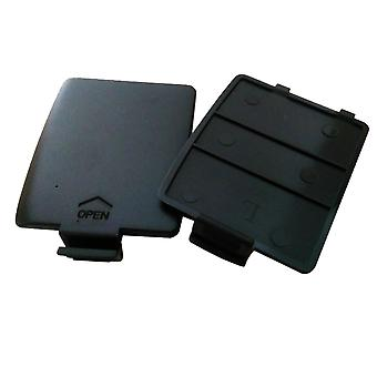 Sega Game Gear Left & Right Pair Replacement Battery Back Door Cover Black