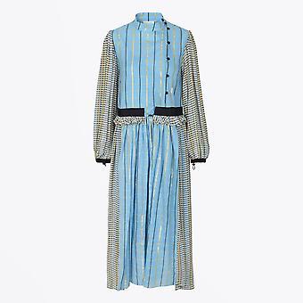 סטינה גויה-Felisa שמלה משובצת-כחול