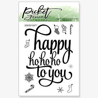 Picket Fence Studios Ho Ho Ho Clear Stamps