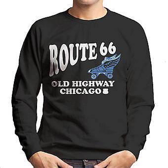 Route 66 Old Highway Chicago heren Sweatshirt