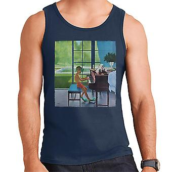 The Saturday Evening Post Poolside Piano Practice George Hughes Men's Vest