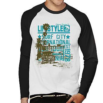 London Banter Lifestyle Surf City Men's Baseball Long Sleeved T-Shirt