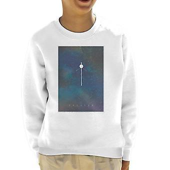 NASA Voyager Interplanetary Travel Poster Kid's Sweatshirt