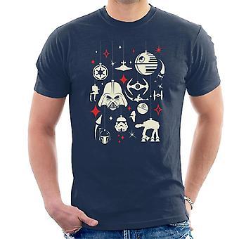 Star Wars Christmas Dark Side Ornaments Men's T-Shirt