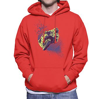 Motorsport Images Marc Marquez And Valentino Rossi Men's Hooded Sweatshirt