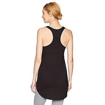 Brand - Mae Women's Loungewear Racerback Tank Top, Black, Small