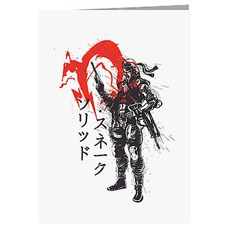 Red Sun Snake Metal Gear Solid Greeting Card