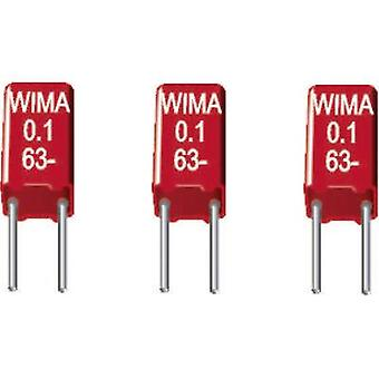WIMA MKS 02 0, 015uF 10% 63V RM2,5 1 st (s) MKS tunnfilms kondeneller Radial bly 0,015 μF 63 V DC 10% 2,5 mm (L x b x H) 4,6 x 2,5 x 7 mm