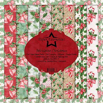 Dixi Craft Mistletoe Christmas 6x6 Inch Paper Pack
