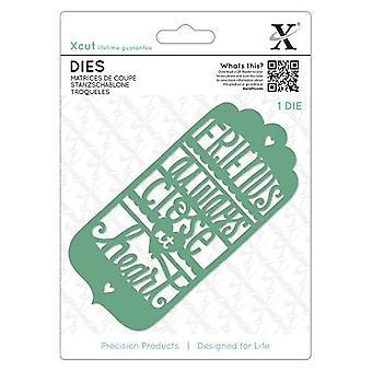 Xcut Dies (1pcs) - Friends Always Tag (XCU 504076)