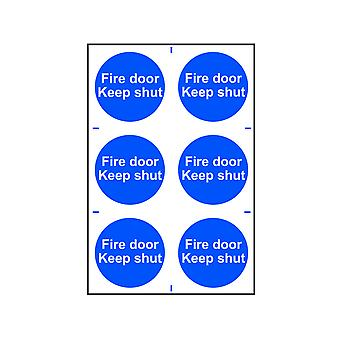 Scan Fire Door Keep Shut - PVC 200 x 300mm SCA0151