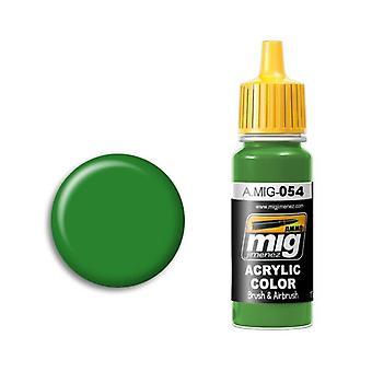 Ammo by Mig Acrylic Paint - A.MIG-0054 Signal Green (17ml)