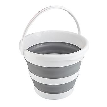 10L Large Folding Collapsible Bucket Kitchen Cleaning Garden Water Pail Camping