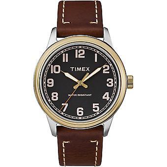 TW2R22900, Klassiker New England erhöhte klassische Riemen und Armbänder Herren uhr / schwarz