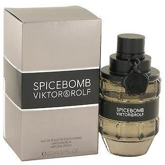 Spicebomb Eau De Toilette Spray By Viktor & Rolf 50 Ml