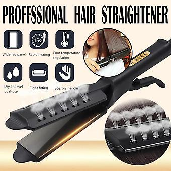 Four Gear Temperature Adjustment Ceramic Tourmaline Ionic Flat Iron Hair Straightener For Women Widen Panel