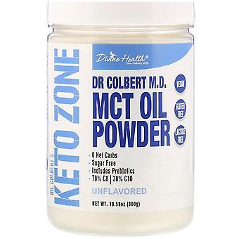 Divine Health, Dr. Colbert's Keto Zone, MCT Oil Powder, Unflavored, 10.58 oz (30