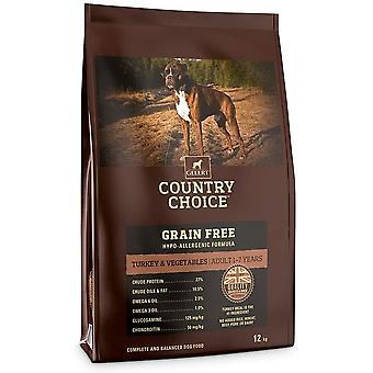 Gelert Country Choice Cereale Gratuit Turcia & Veg - 12kg