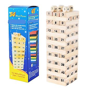 Wooden Stacking-tumbling Tower-blocks Educational Toy, Kids Interaction Game,