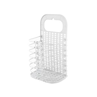 Laundry Basket Collapsible Wall-mounted Clothes Storage Basket White