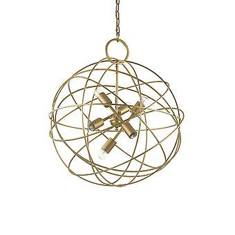 Ideale Lux Konse - 6 Licht kugelförmige Decke Anhänger Gold
