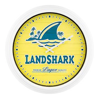 LandShark Logo Gelbe Wanduhr