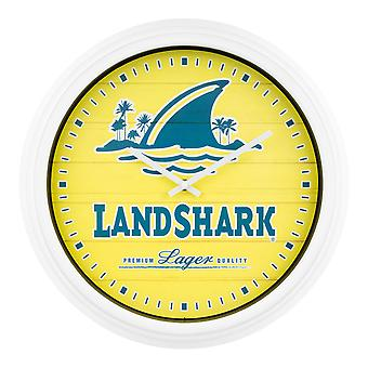 LandShark Logo Yellow Wall Clock
