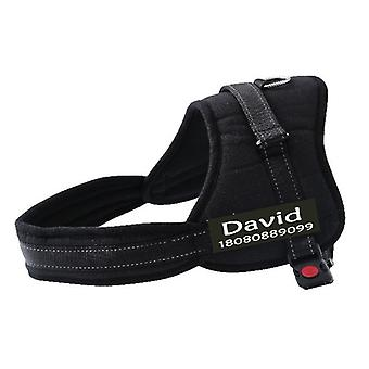 New Fashion Dog Personalized Harness Customized Name Phone Number Medium Large Big Dog Pet