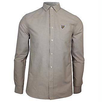 Lyle & scott men's sand storm white oxford shirt