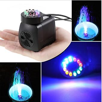 10w Submersible Water Pump With 12 Led Lights For Aquarium