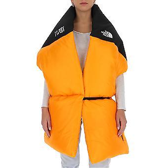 Mm6 X The North Face S62th0027s53390186 Women's Orange/black Nylon Scarf